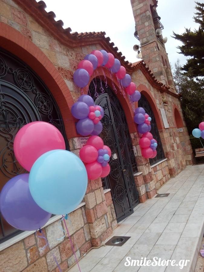 μπαλονια-βαπτισης-πεταλουδες-μαργαριτες