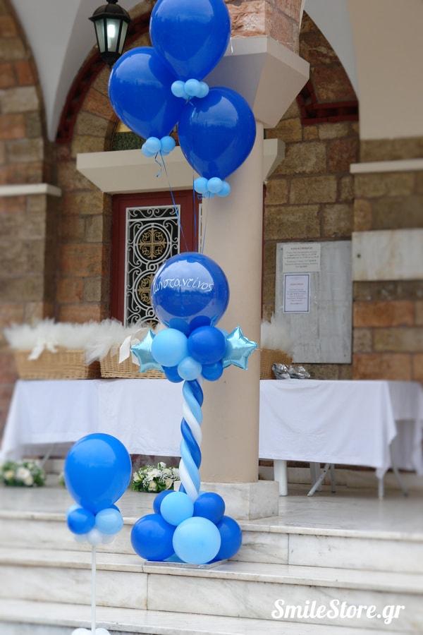 μπαλονια-βαπτισης-κολωνακια